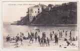 Bnk cp Constanta - Plaja Bailor Moderne - uzata  interbelica, Circulata, Fotografie