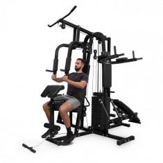 KLARFIT Ultimate Gym 9000, 7 aparate până la 150kg, QR, oțel, negru