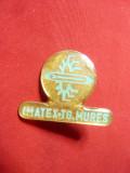Insigna IMATEX Targu Mures- Constructii metalice ,h= 2,3 metal si email
