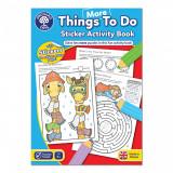 Carte de colorat cu abtibilduri in engleza - Treaba de facut, orchard toys