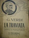 Partitura G. VERDI La Traviata, canto e pianoforte, G. RICORDI EDITORI
