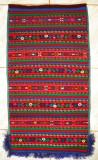 Carpeta populara traditionala lucrata la razboi de tesut, peretar popular 80 ani