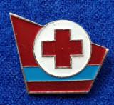 Insigna Donator Onorific - CRUCEA ROSIE Medicina Sanitare Donator de sange #9