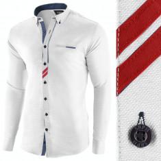 Camasa pentru barbati, alba, slim fit, casual - Monument Pierre, L, M, S, XL, XXL