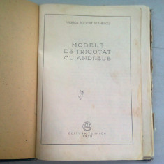MODELE DE TRICOTAT CU ANDRELELE - VIORICA BOCIORT STANESCU