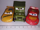 bnk jc Disney Pixar Cars - 3 masinute de plastic