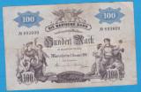 (1) BANCNOTA GERMANIA - BADEN - 100 MARK 1907 (1 IANUARIE 1907) - MAI RARA