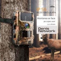 Cameră de vânătoare, modelul mare, 8 baterii, cu ecran propriu, 12MPX