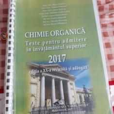 Carte teste grila chimie 2017  pentru admiterea la medicina Bucuresti