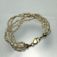 Bratara perle naturale si inchizator argint 925