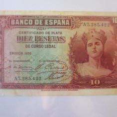 Spania 10 Pesetas 1935