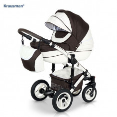 Krausman - Carucior 3 in 1 Sendo White-Brown