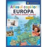Atlasul copiilor. Europa. Tari, oameni, animale, recorduri