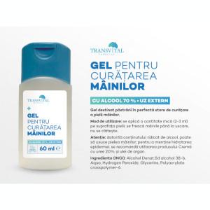Pachet - Gel antibacterian igienizant Transvital, 5 bucati X 60 ml, 70% Alcool