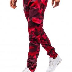 Pantaloni cargo pentru bărbat roșii Bolf 0857