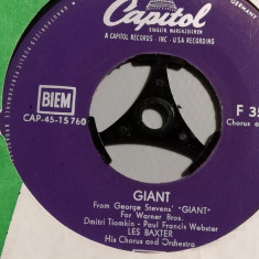 Les Baxter – There's Never…/Giant (1959/Capitol/RFG) - Vinil Single pe '7/NM
