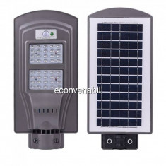 Proiector 40LED SMD 40W Panou Solar, Suport, Senzor Miscare si Lumina