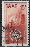 Saar 1955 - Rotary 1v.stampilat,perfecta stare(z)