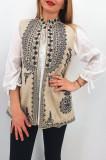 Cumpara ieftin Vesta brodata cu model traditional Ania