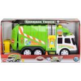 Masina de gunoi cu sunete si lumini-Dickie Toys 8357V, Verde