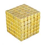 Neocube 216 cuburi magnetice 5mm, joc puzzle, culoare aurie, peste 14 ani