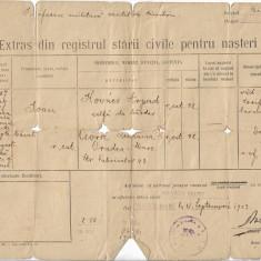 Extras stare civila nasteri catolic Oradea 1923