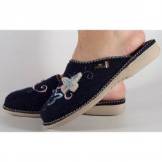 Papuci de casa bleumarin din lana (cod BETTIN)