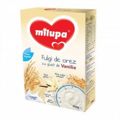 Cereale Milupa Fulgi de orez cu gust de vanilie, 200g