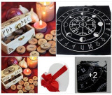 Set rune lemn  viking +cartea totul despre rune+cadou placa divinatie rune