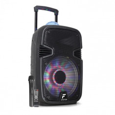 "Fenton FT12JB, boxă activă 12"", 700 W, BT/USB/SD/AUX, LED jellyball, baterie"