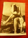 Fotografie artistica - Nud Cehoslovacia 1950 , dim. 12,5x 17,5 cm