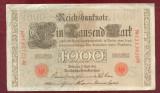 Bancnota Germania  -  REICHSBANKNOTE   - 1.000 MARK  1910 - Serie ROSIE
