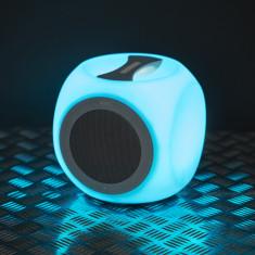Difuzor portabil, fara fir, BLUETOOTH, cu iluminare in culori alternante Best CarHome