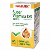 Super Vitamina D3 2000 IU, 60cps, Walmark, 1+1-50% gratis