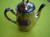 Superb ceainic din portelan argintat