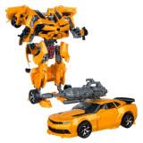 Robot de jucarie, model transformer in masina sport, 34x10x39 cm , galben