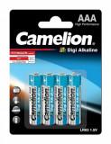 Set 4 baterii AAA LR3 1.5V Digi Alkaline, Camelion