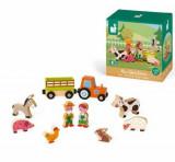 Set de joaca din lemn Mini povesti - Ferma cu animale