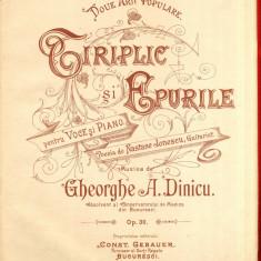 Ciriplic si Epurile Partitura Gheorghe A. Dinicu Muzica Romaneasca C. Gebauer