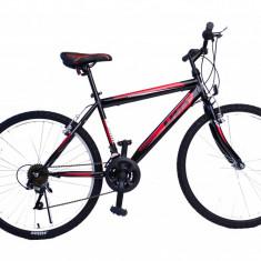 """Bicicleta MTB UMIT Colorado Man , culoare negru/rosu , roata 26"""" , otelPB Cod:2601000000"""