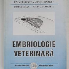 EMBRIOLOGIE VETERINARA - TOMA COMAN