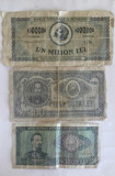 BANCNOTE ROMANESTI 1 MIL. 1947 - 100 LEI 1952 - 50 LEI 1966