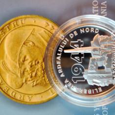 Moneda proof 75 de ani de la eliberarea Ardealului de Nord