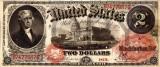 2 dolari 1875 Reproducere Bancnota USD , Dimensiune reala 1:1