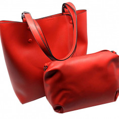 Geanta British 2 in 1 Lady Red