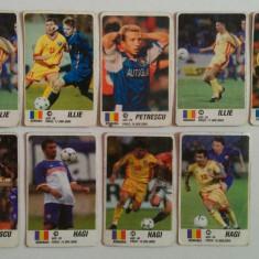 Lot 9 cartonașe fotbal - EURO 2000 - jucători din România (Ilie, Petrescu, Hagi)
