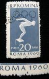 Varietate, eroare la marca postala de 20 bani Medalii olimpice, 1961, Nestampilat