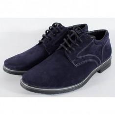 Pantofi bleumarin de barbati/barbatesti din velur (cod SPB01)
