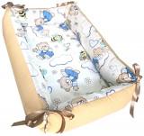 Cumpara ieftin Reductor Bebe Bed Nest Deseda ursuleti crem cu albinute