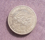 AFRICA ECUATORIALA 100 FRANCI 1966